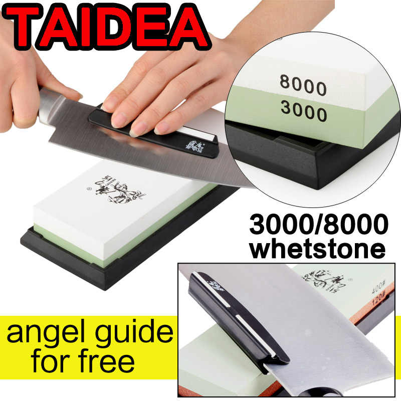TAIDEA 600 1000 3000 8000 knife grinder angle double Side Professional Knife Sharpener Sharpening Stone Whetstone angle guide