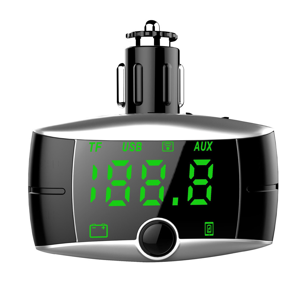 Check Out HandsFree Wireless Bluetooth FM Transmitter With AUX Modulator Online