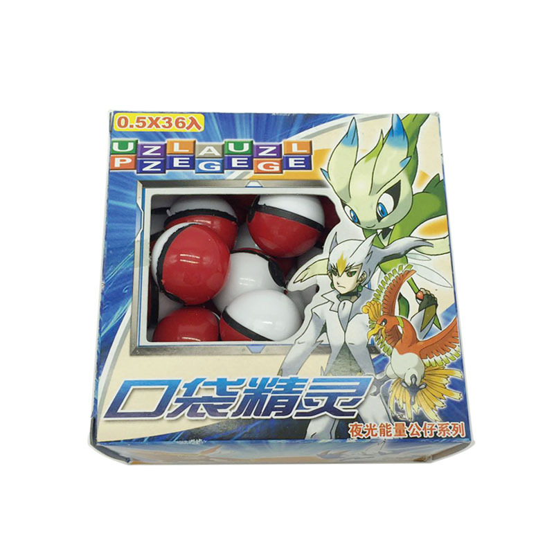 Bébé fans magique jouet pour animaux de compagnie 15 lot (540 pièces) Anime dessin animé Mini balle haute qualité PVC balle jouet avec elfe gratuit et autocollants jouets de poche - 3