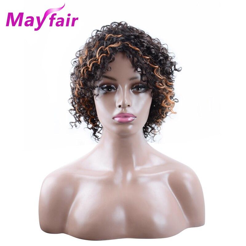 MAYFAIR 10 tums syntetiska peruker för svarta kvinnor P2 / 30 Curly - Syntetiskt hår
