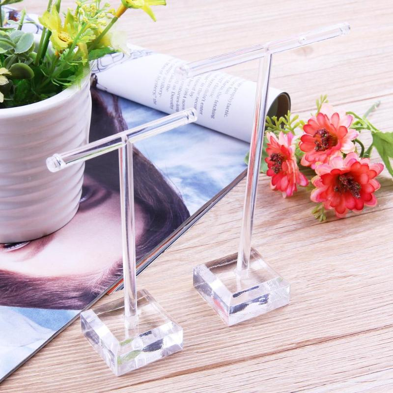 2pcs/set Glass Earrings Jewelry Organizer Display Rack Stand Holder