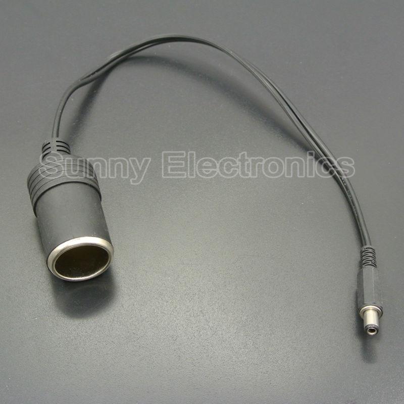 Висококачествен 12V женски автомобил запалка гнездо щепсел конектор зарядно кабел адаптер DC 5.5 * 2.1mm 5A ампер