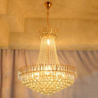 Royal Empire Golden k9 Crystal chandelier Light French Crystal Ceiling Pendant Lights D600mm X H700mm