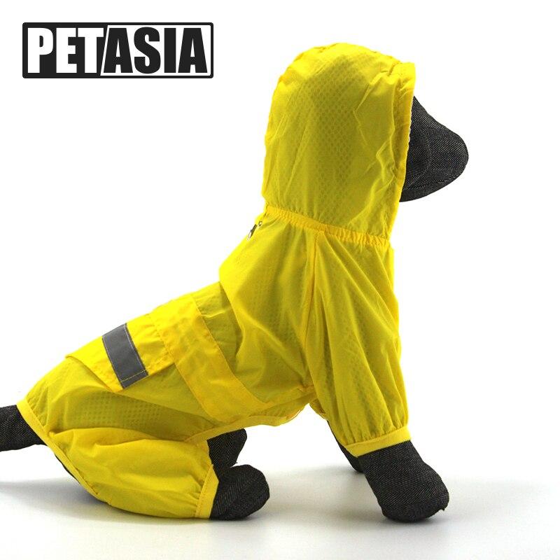 PETASIA Dog Pet Brasão Chuva Casaco Filhote de Cachorro À Prova D' Água de Viagem Ao Ar Livre Capa De Chuva Roupas Pet Para Cão Pequeno Grande Chihuahua S-XXL