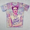 Harajuku women/men camisa frida kahlo 3d imprimir camiseta daft punk t-shirt personagem de fumar tshirt encabeça camiseta feminina