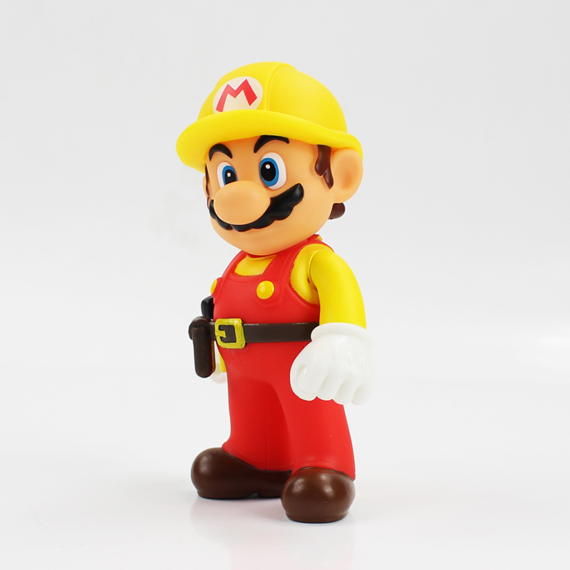 13cm The Repairman Mario Vinyl Figure Toys Super Mario Bro PVC Action Figure Toys Doll Brinquedos Kids Birthday Gifts 12