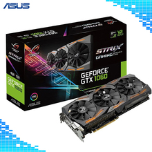 ASUS ROG STRIX-GTX1060-6G-GAMING Graphics 1506-1708MHz 6GB GDDR5 PCI-E3.0 Desktop game Graphics