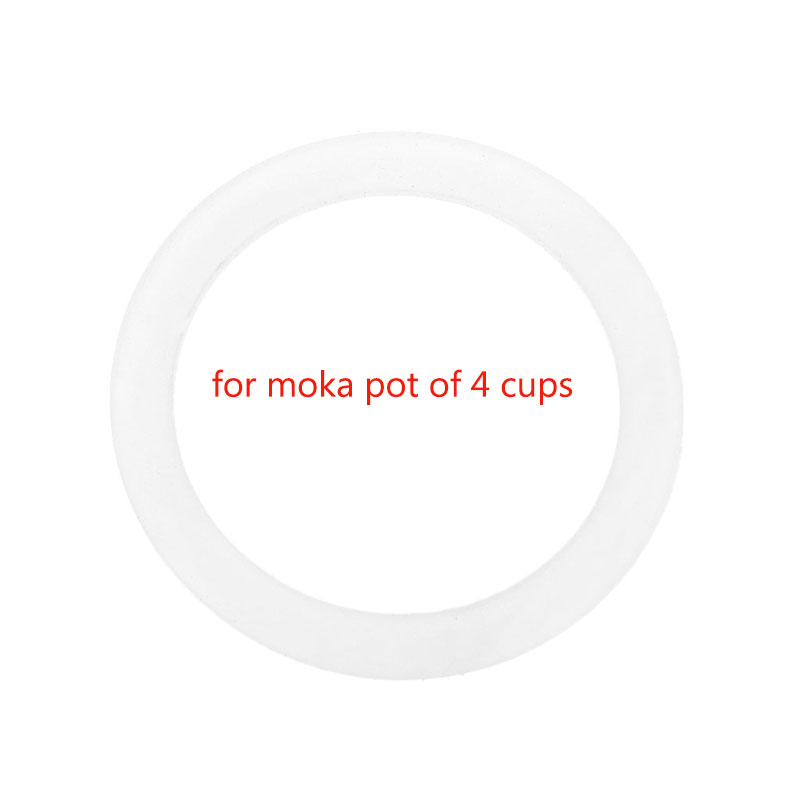 Silicone Seal Ring Flexible Washer Gasket Ring Replacenent For 4 Cups Moka Pot Espresso Kitchen Coffee Makers Accessories Parts