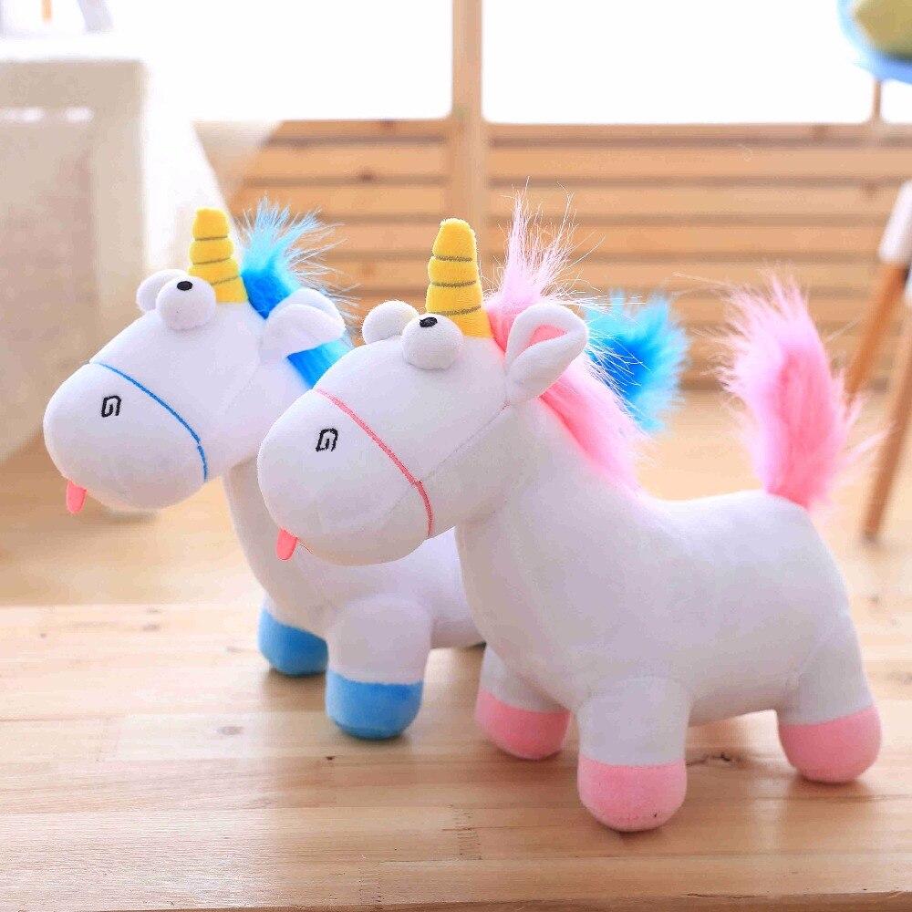 Direct deal Cartoon unicorn plush toy Rainbow pony Dash doll Kawaii toy For Children Gif ...