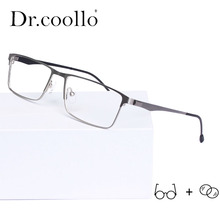 Titanium Rectangle Glasses Frame Ultralight Prescription Gla