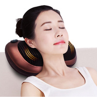 Shiatsu Massage Pillow cervic Massager for neck back relax electric massager body Infrared Heating massage & relaxation electric