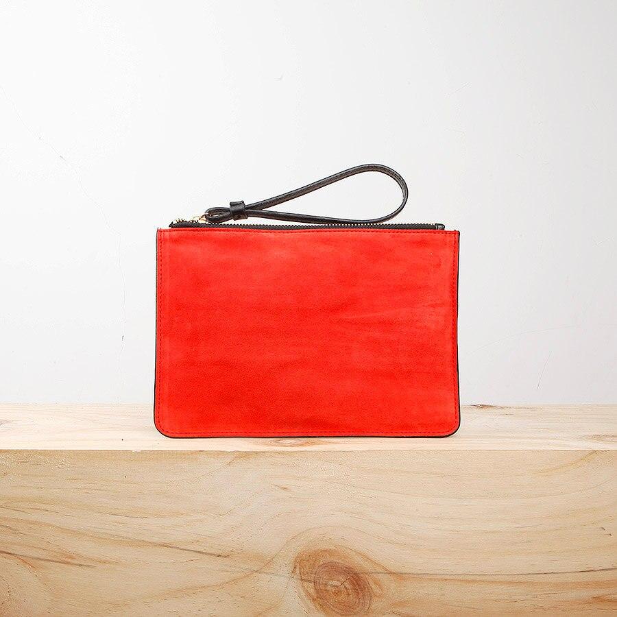 ФОТО EMMA YAO original ultra-thin European syle leather handbag fashion brand wallet