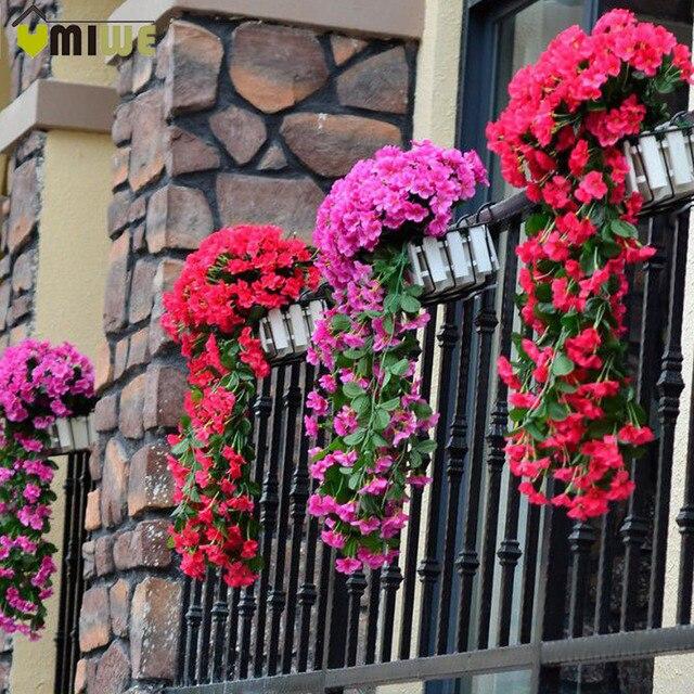 Silk Sztuczne Kwiaty Z Liśćmi Silk ścienne Wiszące Winorośli Kwiat