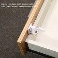 10 piezas cerraduras de seguridad de plástico protección de bloqueo de puerta de gabinete de cajones niños bebé cerraduras de seguridad Invisible prueba cajones