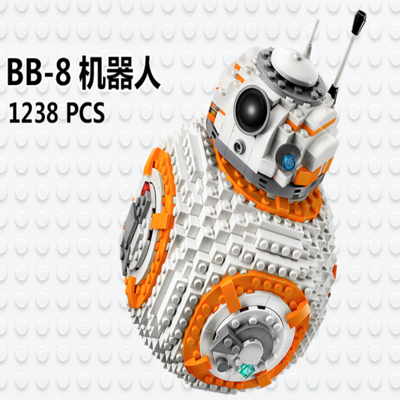 Lepin 05128 The Double BB-8 Robot Set Star Genuine Classic Series Model 75187 Building Blocks Bricks to Children gift цена