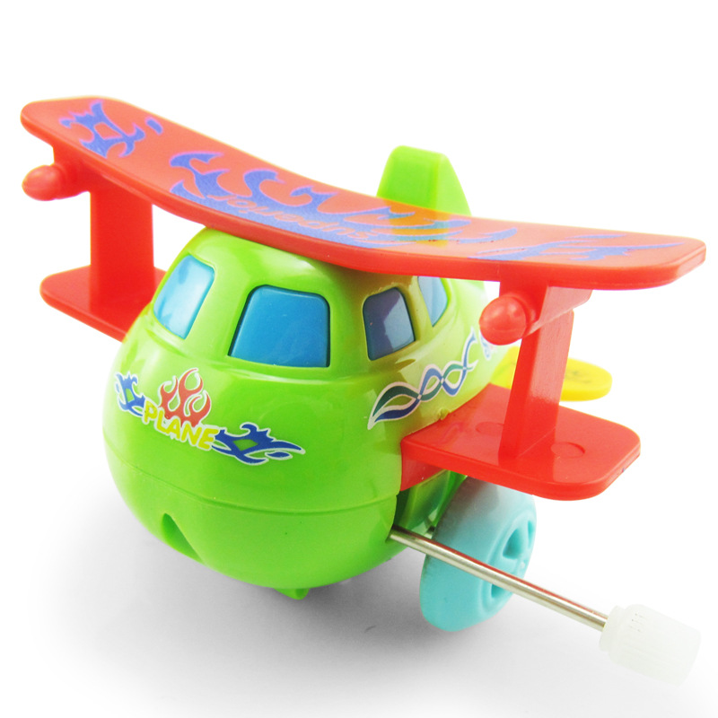 Classic Clockwork Toys On Chain Roll Aircraft Helicopter Toy Wind Up Toys For Children Colour Random in Wind Up Toys from Toys Hobbies