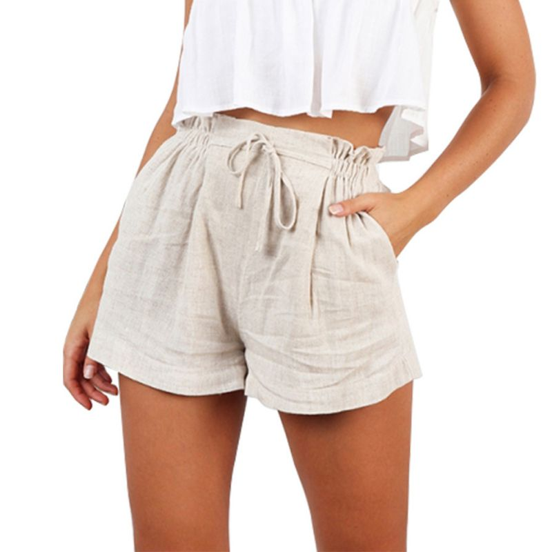 Women's High Waist Casual Shorts For Ladies 2019 Hot Fashion Soft Shorts White Loose Shorts Summer Solid