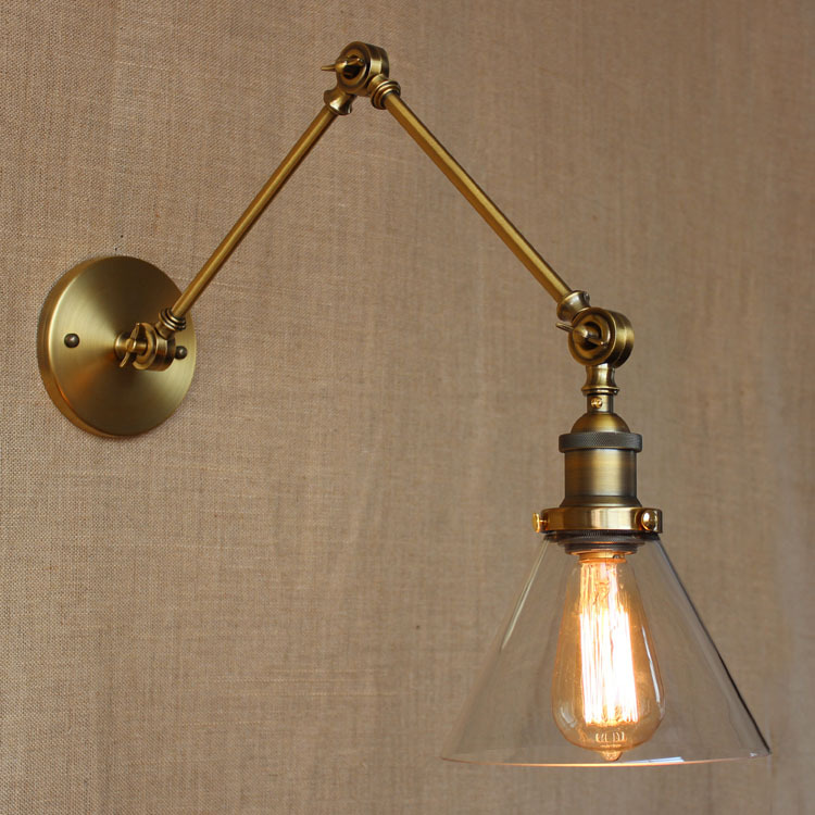 Old industrial style retro exclusive design store bedroom modern Cathedral bronze decorative wall lamp ebtb wallz one old bronze