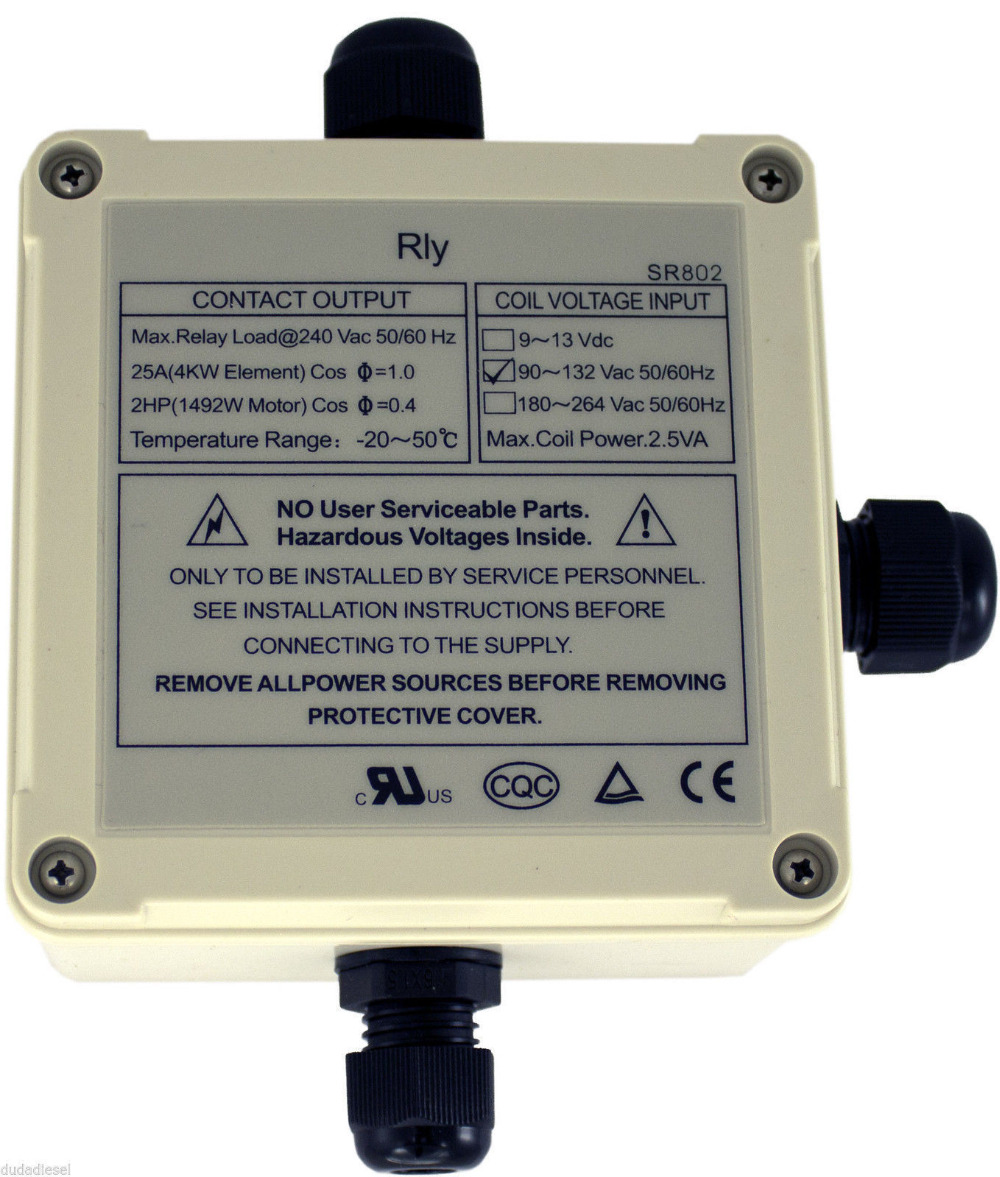 SR802 High Power Relay for Solar Water Heater Electrical Backup ...