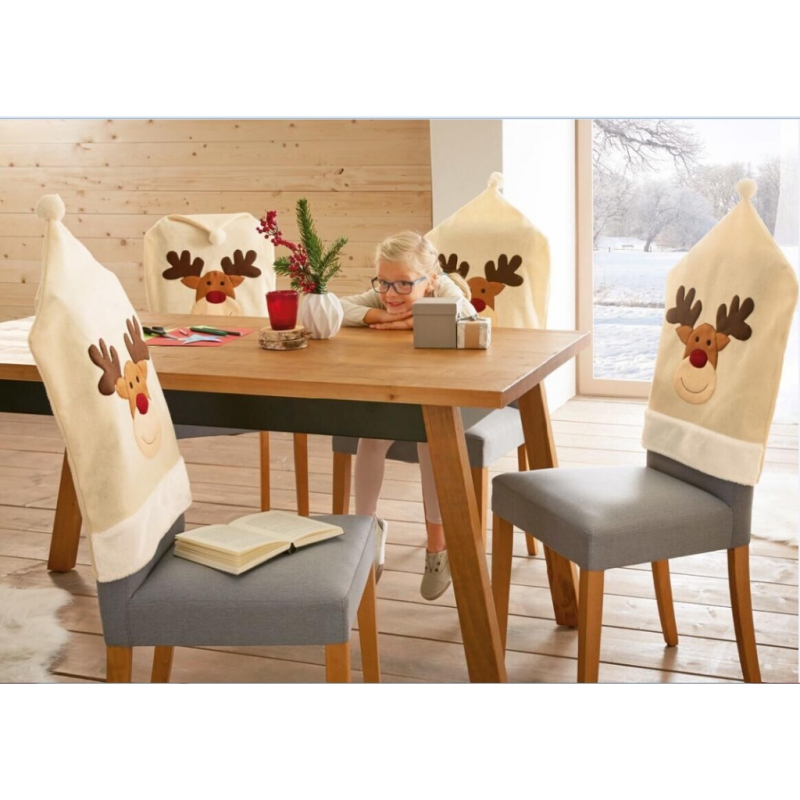 Fantastic Us 3 67 18 Off Christmas Elk Chair Back Cover Christmas Dinner Tablecloth Party Decorations For Christmas Home Decor 50 X 60Cm In Chair Cover From Machost Co Dining Chair Design Ideas Machostcouk