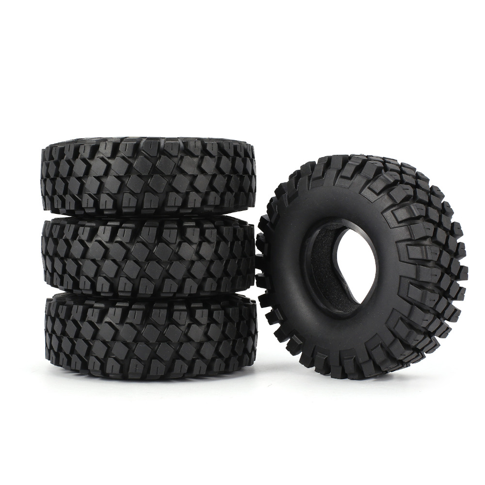 AX-6020 1.9 Inch 110mm Rubber Tires Tire With Metal Wheel Rim For 1/10 Traxxas TRX-4 SCX10 RC4D90 RC Crawler Car