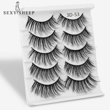 5 Pairs mixing Styles 3D Faux Mink Hair Soft False Eyelashes Fluffy Wispy Thick Lashes Handmade Soft Eye Makeup Extension Tools