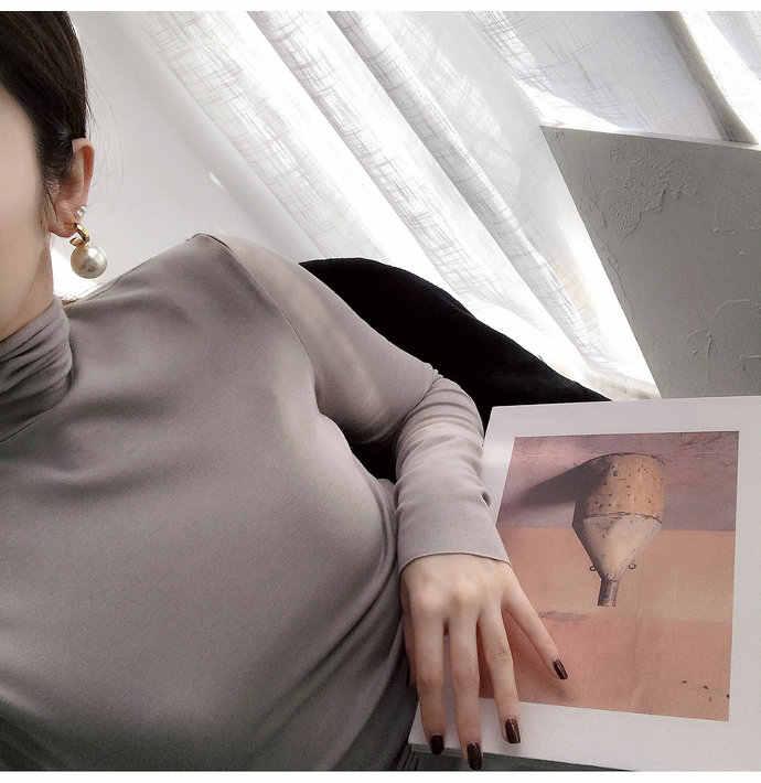 ครอบงำผู้หญิงใหม่แฟชั่นPearlต่างหูหดโลหะเรขาคณิตWater Dropชนิดต่างหูลดลงเครื่องประดับ