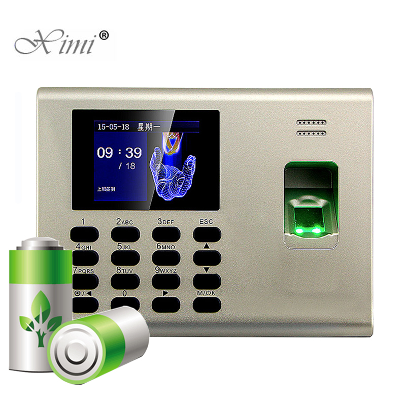 ZK K40 TCP/IP USB Biometric Fingerprint Access Control And Time Attendance With Built In Back Up Battery Fingerprint Time Clock linux system biometric fingerprint time attendance zk st300 time recorder fingerprint time clock with built in battery k14