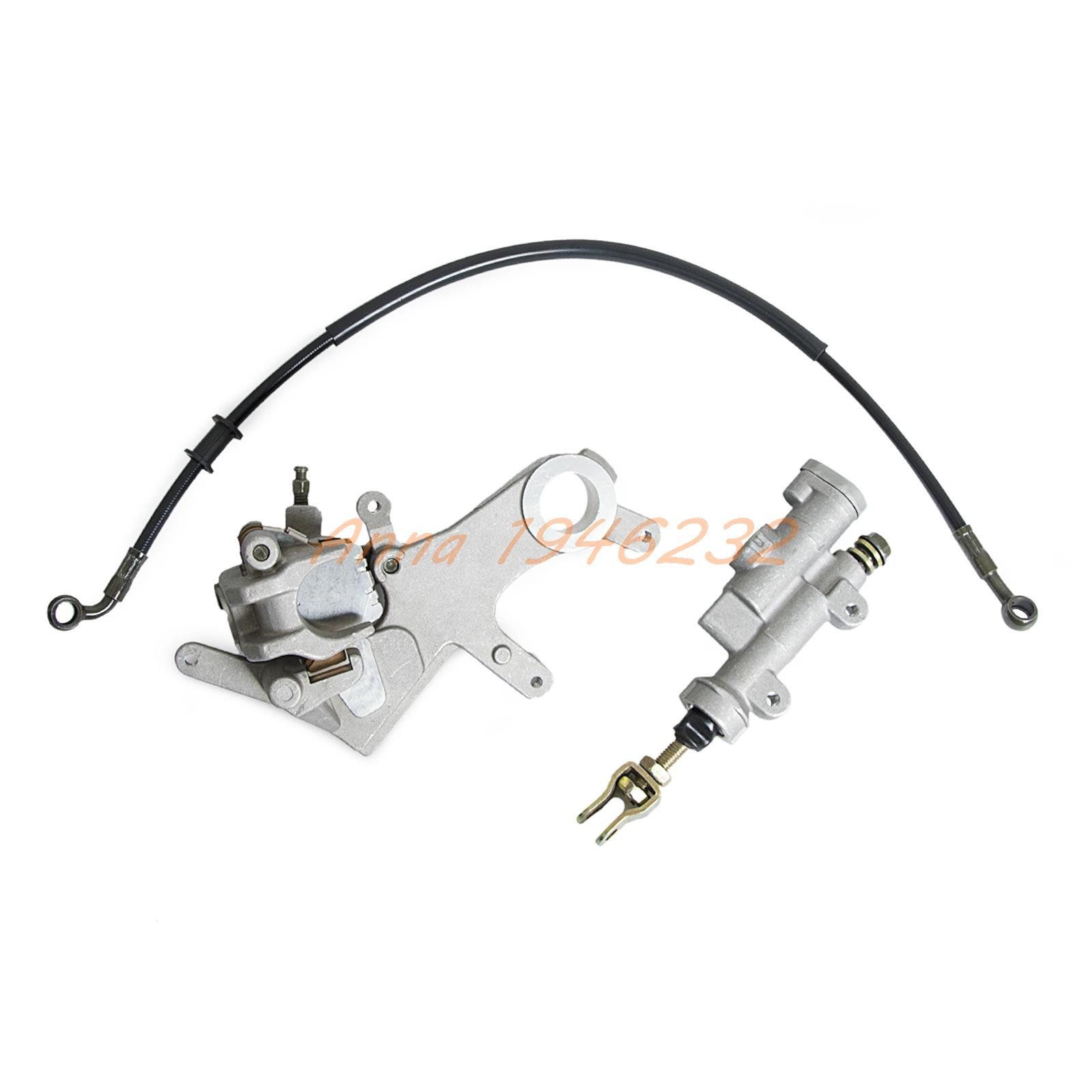 Rear Brake Caliper & Master Cylinder For Honda CRF250X CRF 250X 04-09 2012-2013 motorcycle rear brake master cylinder reservoir cove for ktm duke 125 200 390 rc200 rc390 2012 2013 2014