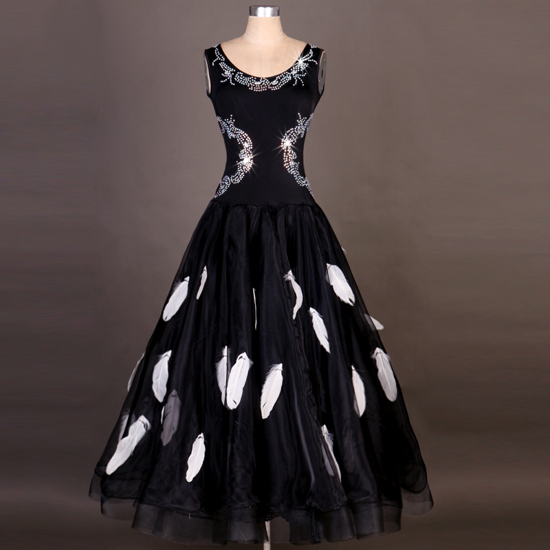 Us 924 2018 Dress For Ballroom Dancing Rhinestone Feather Lulu Vestido De Formatura Flamenco Dresses Escapulario Vestido Juvenil In Ballroom From