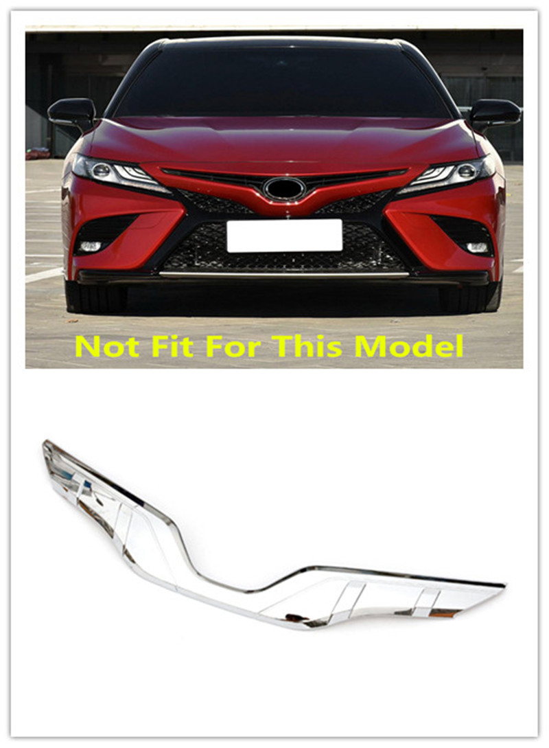 Car Accessories Outer Front Central Grill Grille Cover Molding Trim ABS 1pcs For Toyota Camry XV70 2018 Car-styling цена 2017