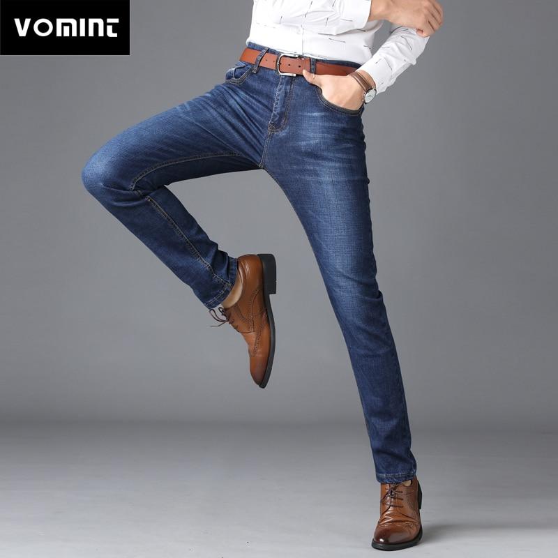 VOMINT Hot Sale Men's Business Classic Leisure   Jeans   Basic styles men   Jeans   Straight pants High Quality Plus Size 40 (No Belt)