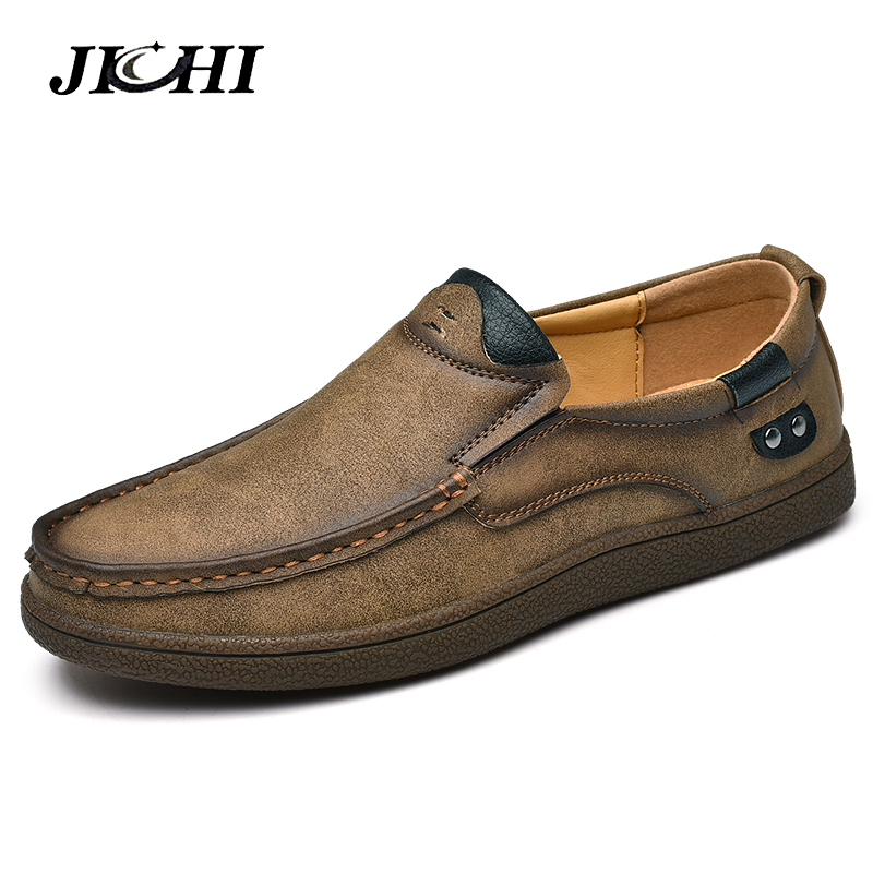 Black Chaussures Marque Cuir Split Nouveau Conduite Mocassins khaki Respirant Richelieus En Qualité Hommes Casual brown 2019 De Appartements 1gqAwt1ZxO