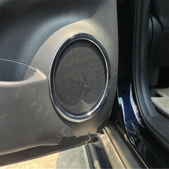 WELKINRY car auto cover for Nissan X-TRAIL T32 2013 2014 2015 2016 2017 ABS chrome interior door speaker audio sound horn trim