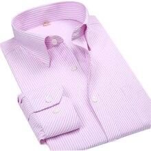 Langarm Männer Freizeithemd Social Plus größe 8XL Gestreiften männer Shirts 6XL Big Size Slim fit Male Männer Kleidung importierte-kleidung