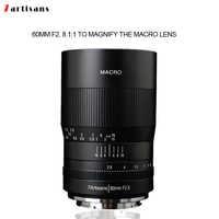 7 artesanos 60mm f2. La lente macro de aumento 8 1:1 es adecuada para la montura Canon EOSM EOSR E Fuji M43 nikon z