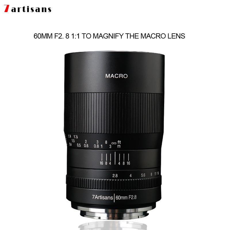 7artisans 60mm f2. 8 1:1 la lentille macro à grossissement convient au support Canon EOSM EOSR E Fuji M43 nikon z