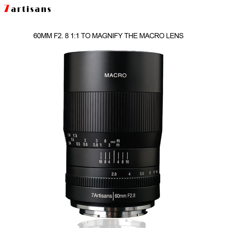 7artisans 60mm f2. 8 1:1 magnification macro lens is suitable for the Canon EOSM EOSR E Fuji M43 nikon z Mount image