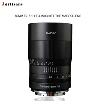 7artisans 60mm f2. 8 1:1 magnification macro lens is suitable for the Canon EOSM EOSR E Fuji M43 nikon z Mount