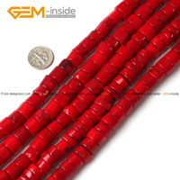 Colum Red Coral Beads Strands 15 Making Jewelry Ornaments DIY Necklace Bracelet Free Shipping