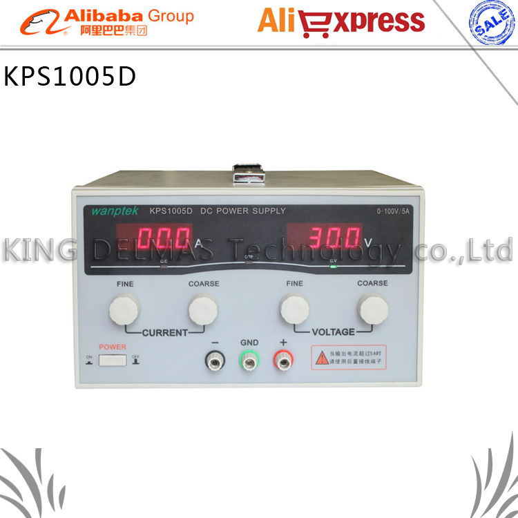 KPS1005D High precision High Power Adjustable LED Dual Display Switching DC power supply 220V EU 100V/5A realleader м2 1005