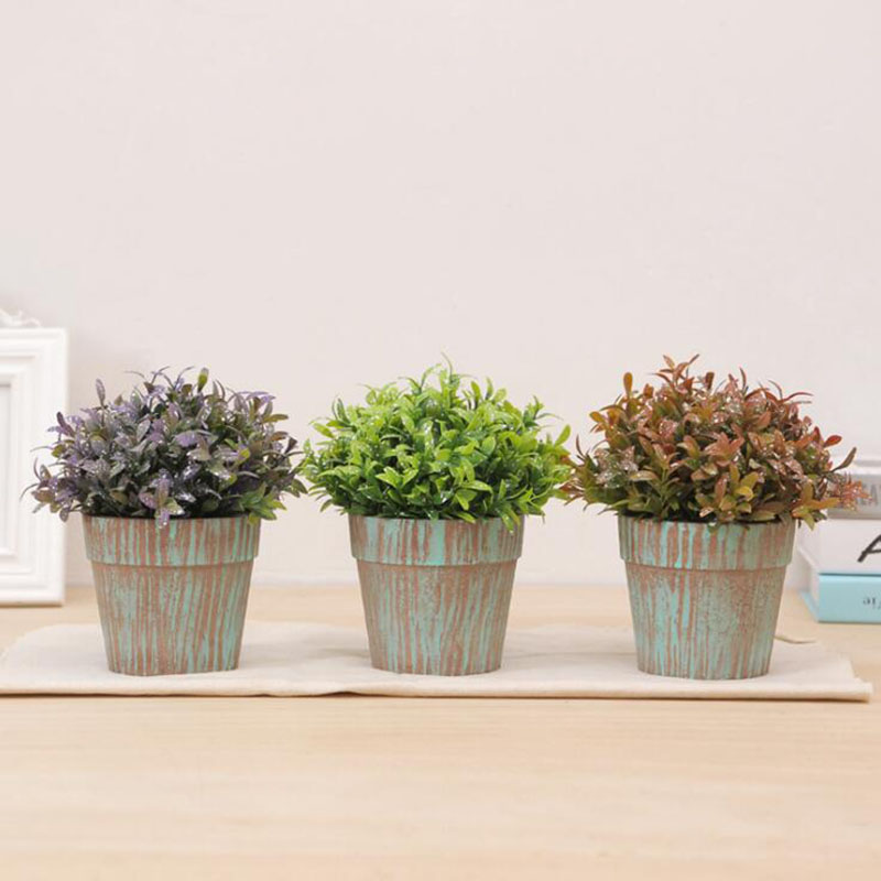 Green Simulation Plant Potted Planting Flower Small Bonsai Creative Office Desk Fake Decoration Or In Artificial Dried