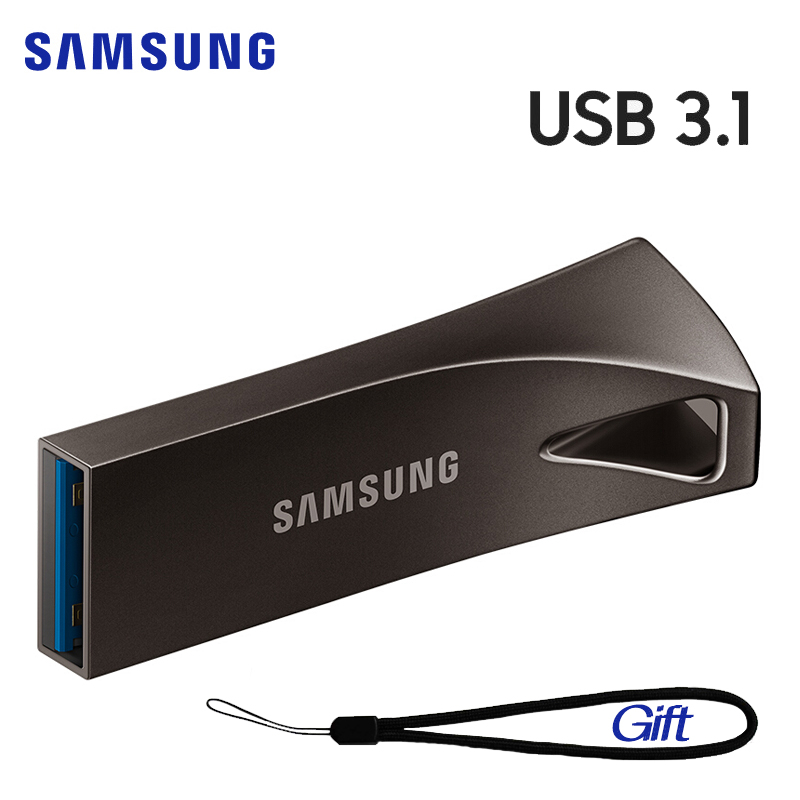 SAMSUNG BAR Plus USB Flash Drive 256GB 128GB 64GB 32GB Pendrive USB 3.1 Compatible USB3.0 Metal Mini Pen Drive Memory Stick