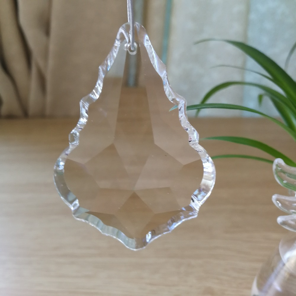 HBL 100mm 5pcs Glass Maple Leaf Crystal Prism Chandelier Suncatcher Lamp Pendant for Home Lighting Decoration