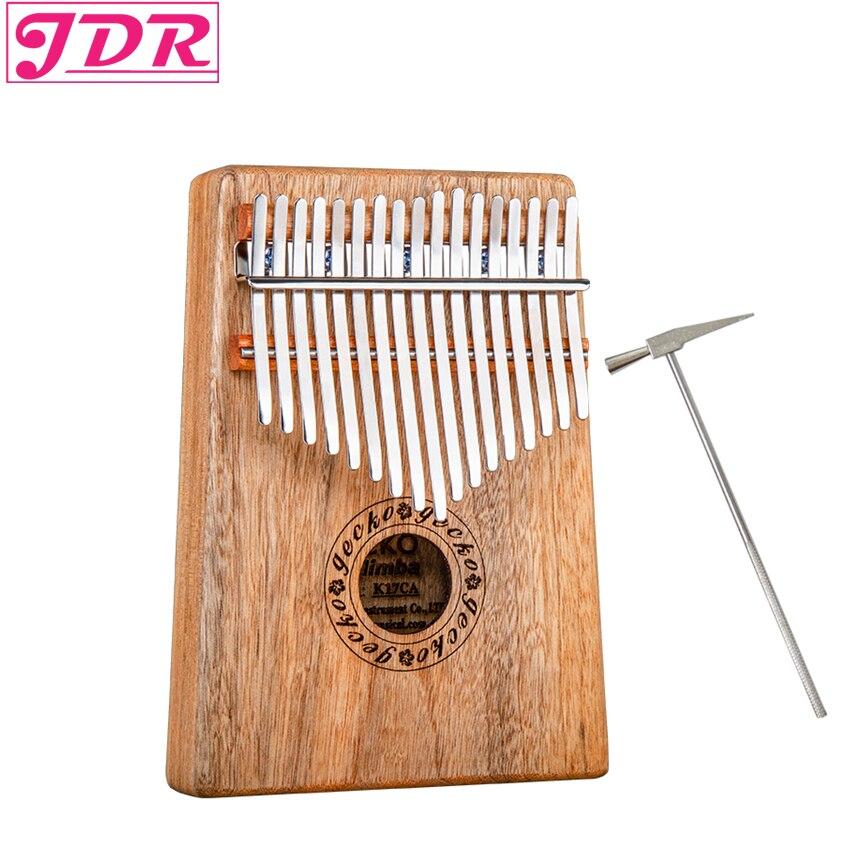 JDR 17 Clé Doigt Kalimba Mbira Sanza Piano à pouces Poche Taille Soutenir Sac Gecko Clavier Marimba Bois Instrument de musique