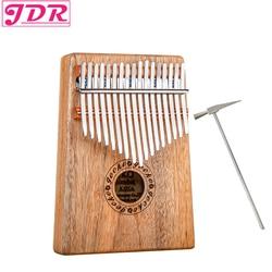 JDR 17 Key Finger Kalimba Mbira Sanza Thumb Piano Pocket Size Supporting Bag Gecko Keyboard Marimba Wood Musical Instrument