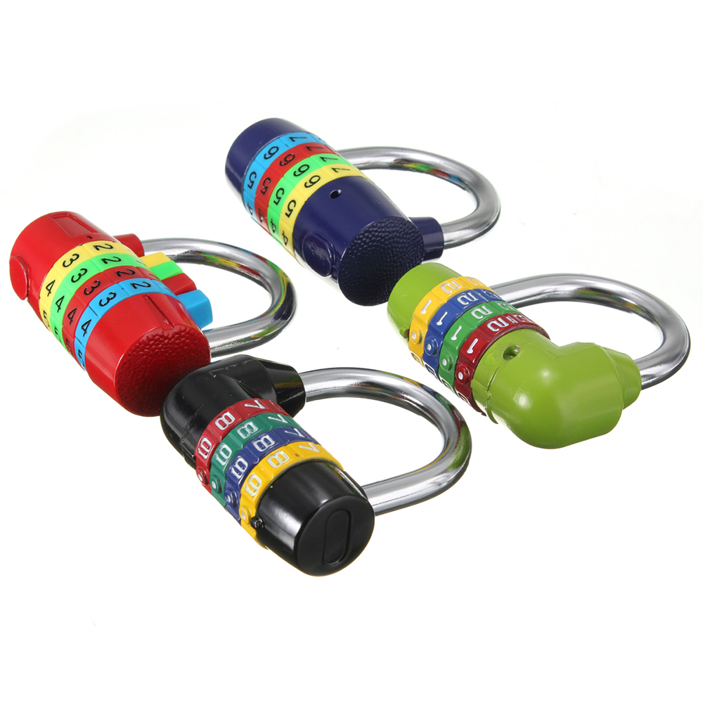 Short Four 4 Digit Number Code Password Combination Padlock Security Safety Lock