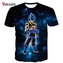 Mens T shirt 3D Print Dragon Ball Z Vegeta Graphic Tee Anime Casual Shirts Summer Funny Cartoon DBZ Short Sleeve Tops