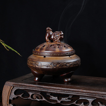 High Quality Ceramic Incense Burner Retro Coil Censer Crafts Home Decoration Buddhist Stick Holder Sandalwood