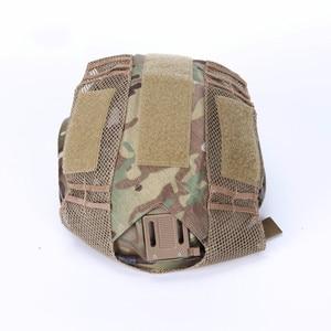 Image 4 - Caça Tático de Combate Paintball FMA Capacete Pano Capa Capacete Durável Peso Leve Semi Coberto de Caça Acessórios
